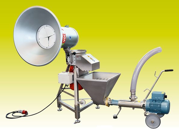 Centrifugal mill RM5,5 with eccentric screw pump