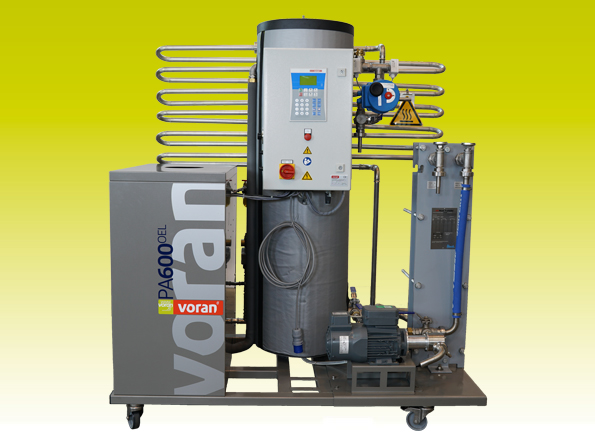 Pasteurizer PA600 Oil with tube heat exchanger and short-term heating